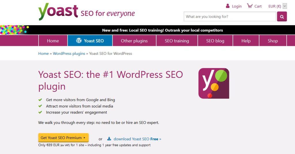 YoastSEO - extension SEO WordPress